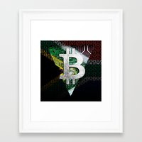 south africa Framed Art Prints featuring bitcoin South Africa by seb mcnulty