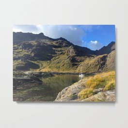 A boat near the Black Cuillins, Scotland Metal Print