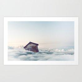 House Float in The Sky Art Print