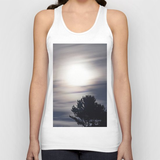 Full moon and clouds Unisex Tank Top