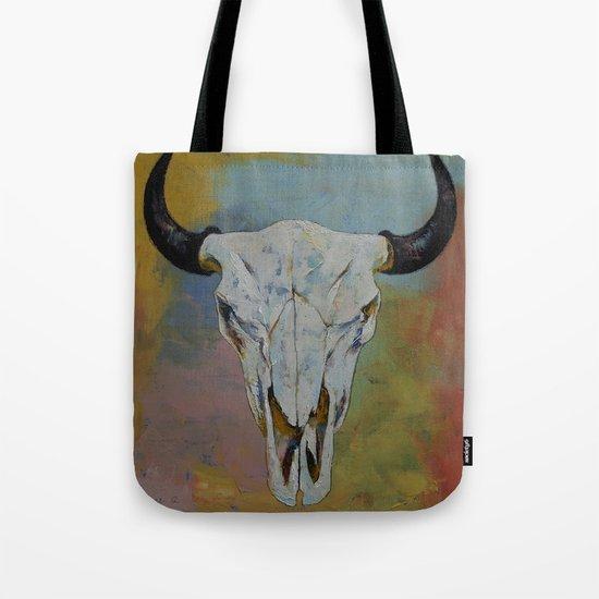 Bison Skull Tote Bag