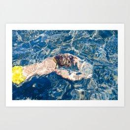 Underwater diffraction Art Print