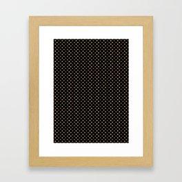 Gold & Black Polka Dots Framed Art Print