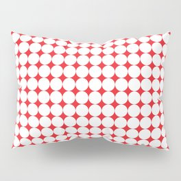 Abstract Red and White 01 Pillow Sham