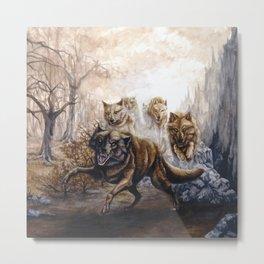 Pack of Wolves Metal Print