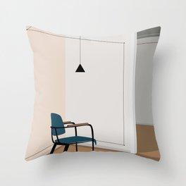 Vintage retro chair Throw Pillow