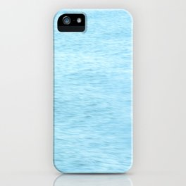 Colors of the Sea Water - Clear Blue iPhone Case