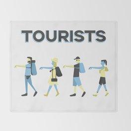 Tourists Throw Blanket