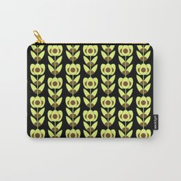 Modern Avocado Flowers Carry-All Pouch