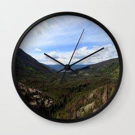 Watercolor Landscape, East Inlet Trail 05, Colorado Wall Clock