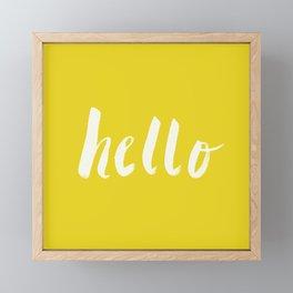 Hello x Sunshine Script Framed Mini Art Print