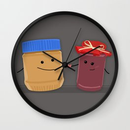 Peanut Butter to my Jelly Wall Clock