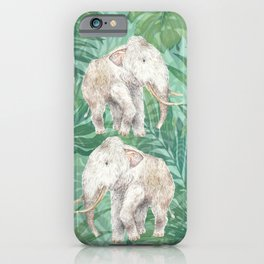 Woolly Mammoth Watercolor Mastodon Painting iPhone Case