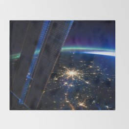 Moscow, Russia from ISS-30 Throw Blanket