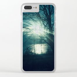 Lake View Sun Ghost Clear iPhone Case