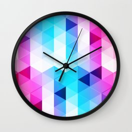 Abstract Triangle Colorful Wall Clock