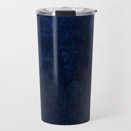 Royal Blue Velvet Texture Travel Mug
