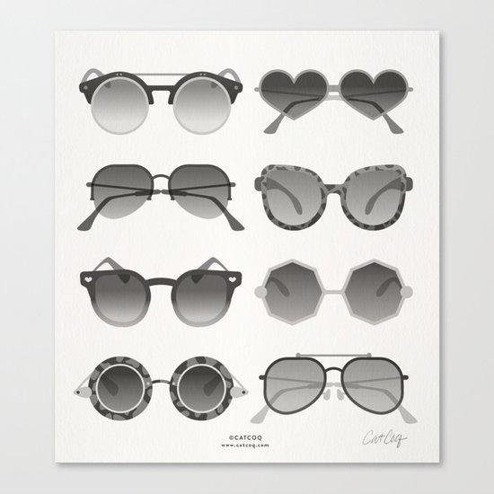 Sunglasses Collection – Black Palette Canvas Print