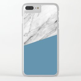Marble and Niagara Color Clear iPhone Case