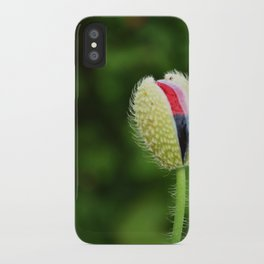Poppy Bud iPhone Case