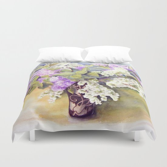 Lilacs bouquet Duvet Cover