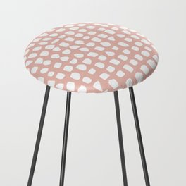 Dots / Pink Counter Stool
