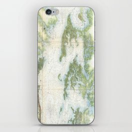 Vintage Map of The Chesapeake Bay (1857) iPhone Skin