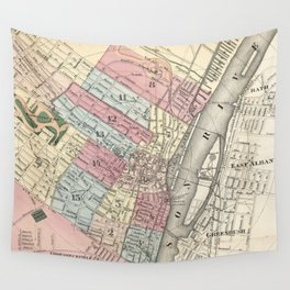 Vintage Map of Albany NY (1874)  Wall Tapestry
