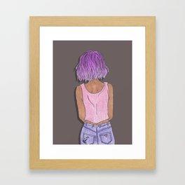 Purple Hair Framed Art Print