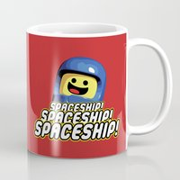 spaceship Mugs featuring Spaceship! by D-fens
