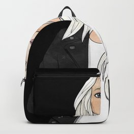 Black and White Chic Girl Backpack