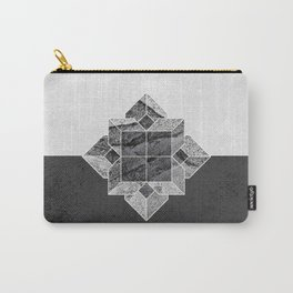 Minimalist Geometrical Black and White Shape Carry-All Pouch