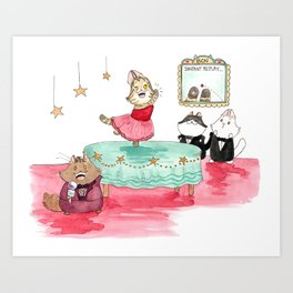 Tabitha catches the red dot. Art Print