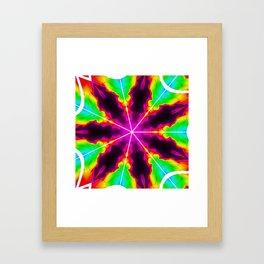 Rainbow Fire Starburst Framed Art Print
