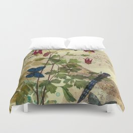 Columbine Love Letters 2 Duvet Cover
