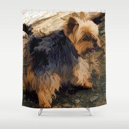 Cute Little Yorkie   - Yorkshire Terrier Dog Shower Curtain
