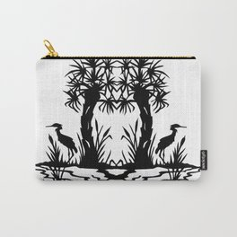 Lowcountry Herons - Papercut Silhouette Scherenschnitte Carry-All Pouch