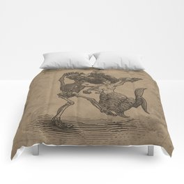 Dancing Mermaid and Skeleton Comforters