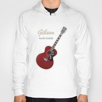 rockabilly Hoodies featuring Gibson Acoustic Rockabilly by good music