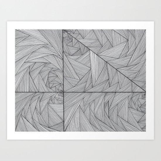 2564 Lines Art Print