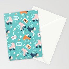 Roller skates pattern 001 Stationery Cards