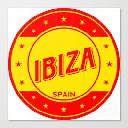 Ibiza, circle Canvas Print