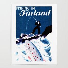Vintage Finland Travel Poster Poster