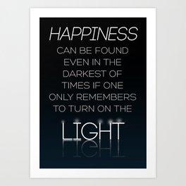 Harry Potter Albus Dumbledore Quote Art Print