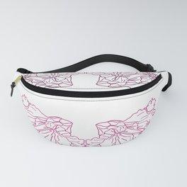 Beautiful pinky flowers line art Fanny Pack