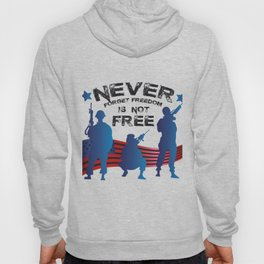 Memorial Day Never Forget Freedom Hoody