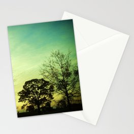 Orange Green Blue Sky Stationery Cards