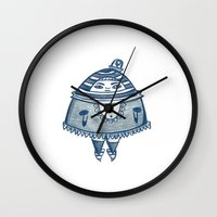 police Wall Clocks featuring Party Police by AnyaKali