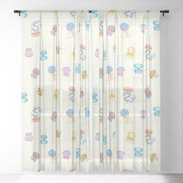 Pastel Jellyfish Sheer Curtain