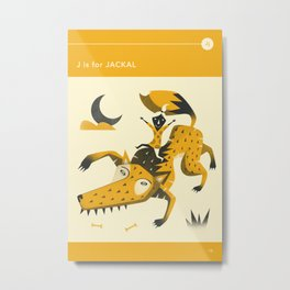 J is for JACKAL Metal Print